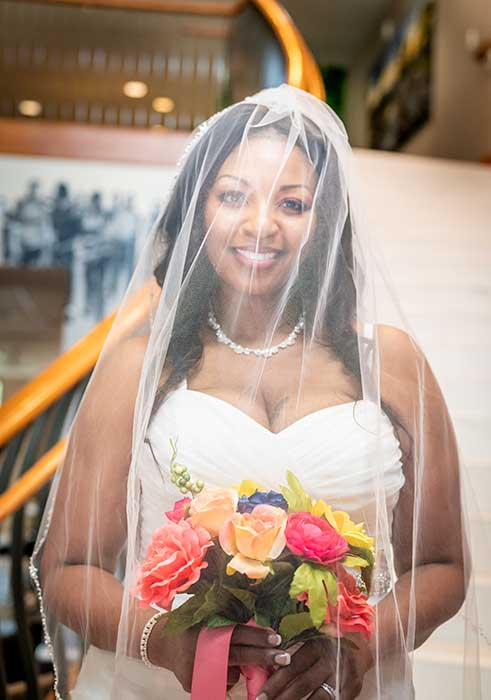 Bride cover with Veil Portrait